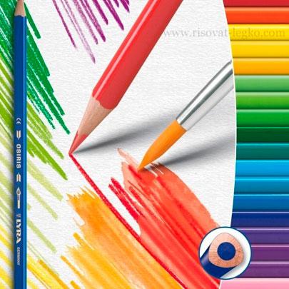 Акварельные карандаши, мелки